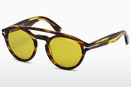 Óculos de marca Tom Ford Clint (FT0537 48E) - Castanho, Dark, Shiny