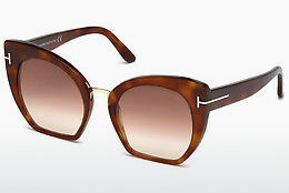 Óculos de marca Tom Ford Samantha (FT0553 53F) - Havanna, Yellow, Blond, Brown