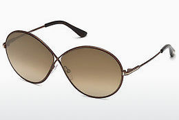 Óculos de marca Tom Ford FT0564 48G - Castanho, Dark, Shiny
