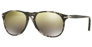 Persol PO9649S 1063O3 LIGHT BROWN MIRROR GOLDSPOTTED GREY BLACK