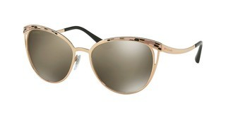 Bvlgari BV6083 20145A LIGHT BROWN MIRROR DARK GOLDPINK GOLD