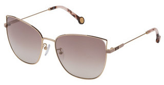 Carolina Herrera SHE141 300X BROWN GRADIENT/MIRROR SILVERORO ROSE' LUCIDO TOTALE