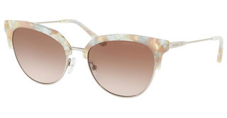 Michael Kors MK1033 334013 BROWN PEACH GRADIENTPASTEL GREEN MOSAIC/SHINY SILV