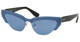 Miu Miu MU 04US 1202J1 LIGHT BLUEGLITTER OPAL BLUE DIVISA