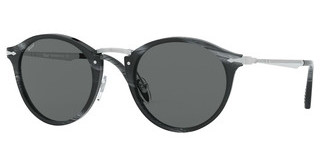 Persol PO3166S 1114B1 DARK GREY BLUHORN BLACK