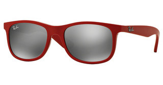Ray-Ban Junior RJ9062S 70156G GREY MIRROR SILVERMATTE RED