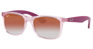 Ray-Ban Junior RJ9062S 7052V0 RED MIRROR REDTRANSPARENT PINK