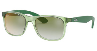Ray-Ban Junior RJ9062S 7053W0 GREEN MIRROR REDTRANSPARENT GREEN