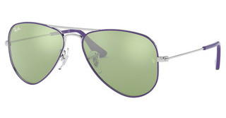 Ray-Ban Junior RJ9506S 262/30 GREEN FLASH SILVERSILVER TOP ON VIOLET