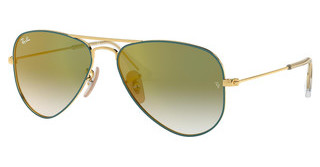 Ray-Ban Junior RJ9506S 275/W0 GREEN MIRROR REDGOLD ON TOP TURQUOISE