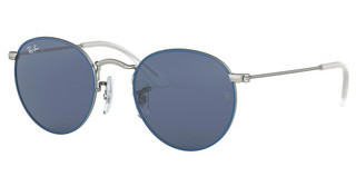 Ray-Ban Junior RJ9547S 280/80 DARK BLUETOP RUBBER BLUE ON SILVER