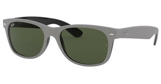 Ray-Ban RB2132 646431 GREENTOP RUBBER GREY ON SHINY BLACK