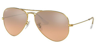 Ray-Ban RB3025 001/3E CRYS.BROWN-PINK SILVER MIRRORGOLD