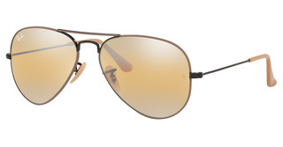 Ray-Ban RB3025 9153AG YELLOW BI-MIRROR GREYBLACK ON TOP MATTE BEIGE