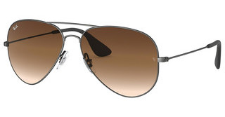 Ray-Ban RB3558 913913 BROWN GRADIENT DARK BROWNMATTE BLACK ANTIQUE