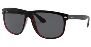 Ray-Ban RB4147 617187 DARK GREYTOP MAT BLACK ON RED TRASP