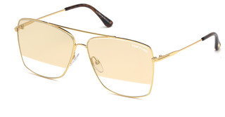 Tom Ford FT0651 30C grau verspiegelttiefes gold glanz