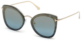 Tom Ford FT0657 55X blau verspiegelthavanna bunt